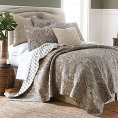 Levtex Home Kasey Reversible Quilt Set in Grey - www.BedBathandBeyond.com