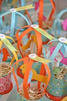 Adorable #DIY #partyfavor for a bird-themed #babyshower. Fill with baked goodies or sweet treats!