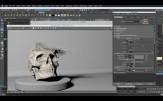 How To Dissolve an object with Maya - SOOOO COOOOOLLLL
