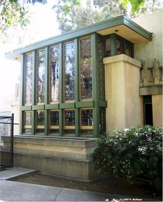 Aline Barnsdall Hollyhock House. Hollywood, California, 1919–1921. Frank Lloyd Wright