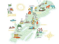Kat Chadwick - Map of Sweden