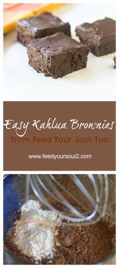 Easy Kahlua Brownies from Feed Your Soul Too
