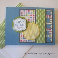 Stampin' Up! Label Love Birthday Card