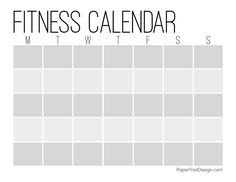 Printable workout calendar to keep track of your health and fitness goals. Fitness calendar printable. #papertraildesign #getfit #plan #planner #plannerprintables