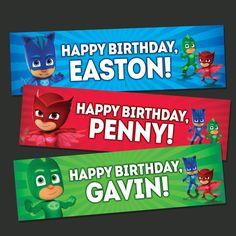 Items similar to Pj Masks Happy Birthday Banner Chalkboard * Pj Masks Birthday Banner * Pj Masks Birthday Printables * PJ Mask Party Favors 100010 on Etsy 5th Birthday Party Ideas, 3rd Birthday, Pjmask Party, Pj Mask, Happy Birthday Banners, Mask For Kids, Masks, Superhero Party, Rowan