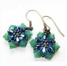 Beaded Flower EarringFree Diy Jewelry Projects | Learn how to make jewelry - beads.us