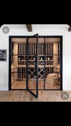 Luxury Kitchen Design, Dream Home Design, Modern Interior Design, Wine Cellar Basement, Warehouse Living, Home Wine Cellars, Bar A Vin, Corridor Design, Wine Rack Storage