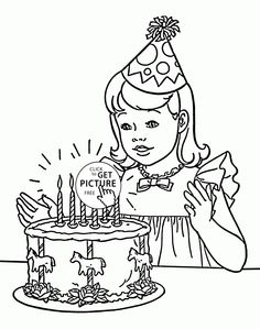 Printable Coloring Birthday Cards Lovely Birthday Girl Coloring Page for Kids Holiday Coloring Pages Batman Coloring Pages, Fall Coloring Pages, Coloring Pages For Girls, Animal Coloring Pages, Coloring Pages To Print, Free Printable Coloring Pages, Coloring For Kids, Coloring Books, Food Coloring