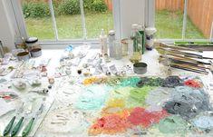 love this shot of Jenny's Studio; makes my scrap room look A OK!!!