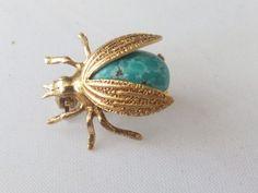 Fine-Turquoise-14k-gold-ladybird-brooch