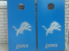 Detroit Lions Cornhole boards.