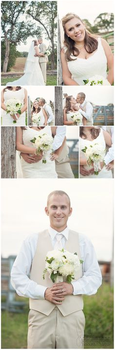 bride and groom + photo