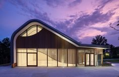 Adam Aronson Fine Arts Center by night