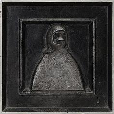 Arvo Siikamäki: Muotokuva, 1981, reliefi, alumiini, 21x21 cm, edition 4/5 - Bukowskis Market 4/2016