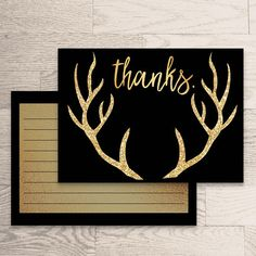 Thank You Card Instant Download Rita Collection Black Gold