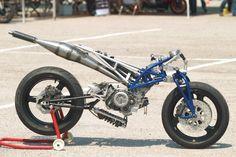 Talos Motorcycle - Hossack Front Fork on a cylinder tub