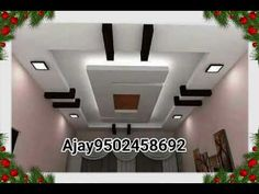 Best Gypsum False Ceiling Design for Hall | 2018 - YouTube
