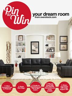 UPDATE: This sweepstakes closed on August 10, 2012. Congratulations to the winner!  Pin to Win your Dream Room from Overstock.com