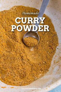 A simple homemade curry powder recipe you can whip together with readily available ingredients so you can make curry dishes at home anytime you'd like. Spicy Recipes, Curry Recipes, Cooking Recipes, Smoker Recipes, Rib Recipes, Cooking Tips, Jamaican Curry Powder, Homemade Curry Powder, Homemade Spices