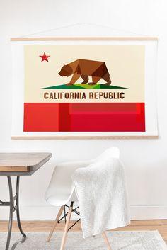 Fimbis California Art Print And Hanger | Deny Designs Home Accessories  Cali, SoCal, NorCal, collage, interior design, interior inspiration, fashion, fashionista, wall art,
