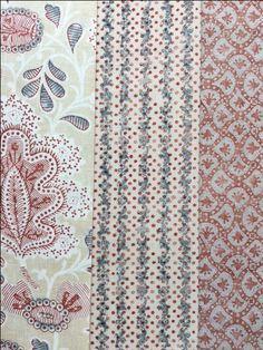 Terracotta is trending as the most popular colour for interior fabrics! - Chalvington, Kalamitsi Stripe and Strapwork. www.nicholasherbert.com