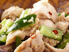 きゅうりと鶏肉の中華和えの画像