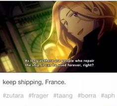 I will keep shipping!~ I showed this to my friends and they said only if half of the ships alive :(