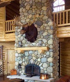 Champlain Stone Fireplace