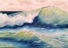 Картинки по запросу ocean wave study watercolor