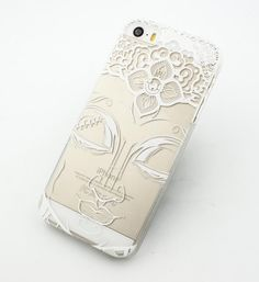 """Clear Plastic Case Cover for iPhone 6Plus (5.5"""") Henna Close Up Buddha buddhist indian varada mudra ohm thai ganesh from milkyway"""