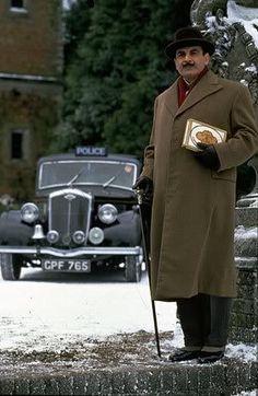 "David Suchet as Hercule Poirot. Poirot is funny, entertaining, brilliant, and I love how he uses his ""little grey cells"". Best Mysteries, Murder Mysteries, Sherlock Holmes, Hercule Poirot's Christmas, Radios, Tv Detectives, Famous Detectives, Agatha Christie's Poirot, David Suchet"
