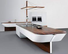 Nautical Tables for Boats | Boat Kitchen - not from old wood - but could/should be... www.alno.de