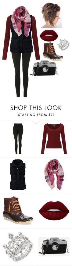 """""""Casual date night"""" by dariah3412 ❤ liked on Polyvore featuring Topshop, Miss Selfridge, Lands' End, Humble Chic, Sperry and Lime Crime"""