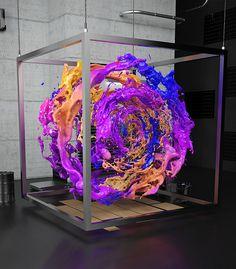 3D Design - 3D Typography - Modelling Liquid Sound Sculpture on Behance