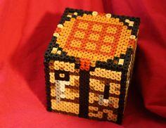 MInecraft  Workbench Box perler beads by  Ashley Godbold