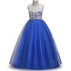 84ff982075 Teenage Girls Dress 2018 Party Wedding Kids Dresses For Girls Summer Floral  Lace Princess Dress Children Clothing 14 10 12 Years
