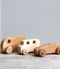 Vintage Wood Toy Car Collection - ethanollie