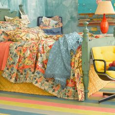 Candlewick Curry Bed Skirt Love all these colors - great in a quilt. Decor, Furniture, Beautiful Bedrooms, White Linen Bedding, Decor Styles, Home Decor, Curry Bed, Bed, Bedroom Decor