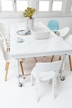 visgraat tafel
