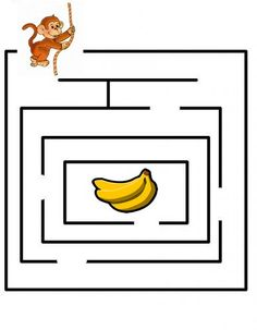 labyrint Preschool Letters, Preschool Worksheets, Preschool Printables, Kindergarten Activities, Preschool Crafts, Visual Perception Activities, Activities For 6 Year Olds, Craft Activities For Kids, Maze Puzzles