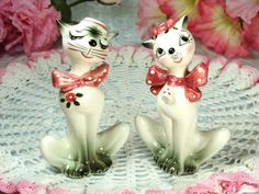 Adorable Vintage Porcelain Stylish Cartoon by HappyGalsVintage