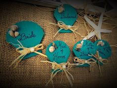 Sea Shell pins for weddings. Pins for the bridal by StarrEvents