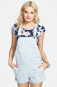 High Waist Overall Shorts - Blue | #OOTD | Pinterest | High waist ...