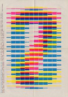 CMYK poster design by Karel Martens Typography Letters, Typography Poster, Graphic Design Typography, Typography Images, Hand Lettering, Mises En Page Design Graphique, Illustration Design Graphique, Interaktives Design, Print Design