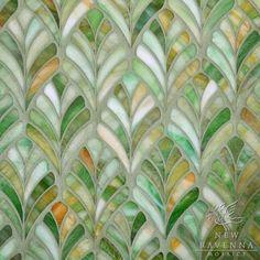 Beautiful leaf mosaic by New Ravenna Mosaics