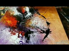New Acrylic abstract painting #Abstract art #demonstration #techniques - YouTube