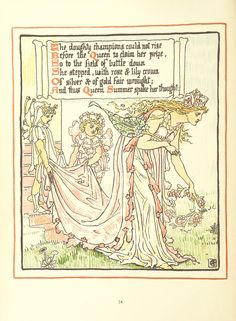 Image taken from page 52 of 'Queen Summer; or, the Tourney of the lily & the rose. Penned & portrayed by Walter Crane' | by The British Library