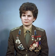 Valentina Tereshkova, the first woman in space (((when I was little, I wanted to be the first woman in space :) ..)))