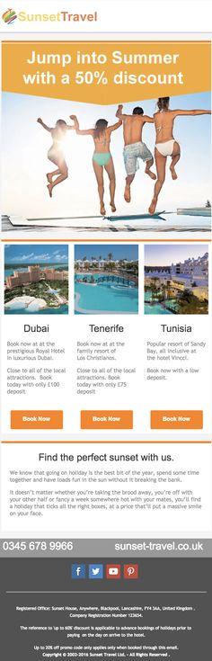 Tenerife, Email Marketing, Dubai, Templates, Design, Stencils, Teneriffe, Vorlage