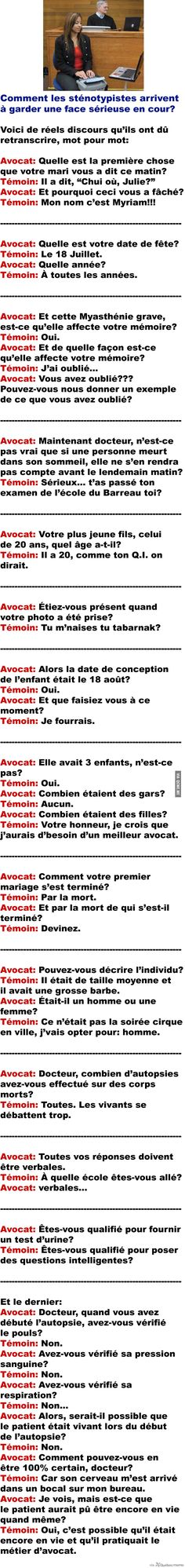 Vraies conversations HILARANTES en cour – Québec Meme + Good Jokes, Funny Jokes, Hilarious, Rage, Funny Images, Funny Pictures, Funny Fun Facts, Minions, Image Fun